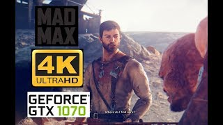 4K/60FPS - Mad Max - [GTX1070 / i7 7700] - Testando o game