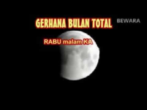 Fenomena Alam Gerhana Bulan Total 31 Januari 2018