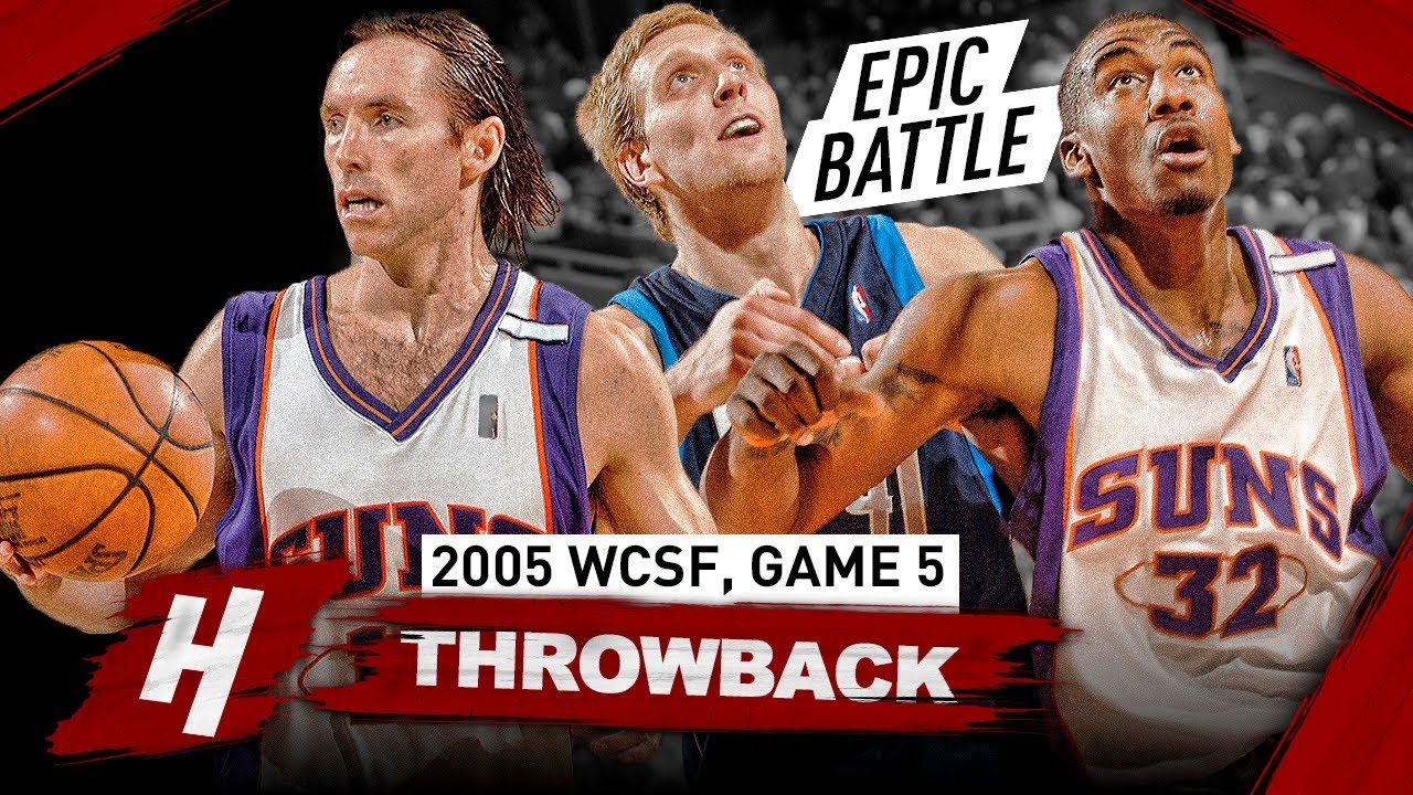 ffb086a5b78 MVP Steve Nash   Amar e Stoudemire vs Dirk Nowitzki Game 5 Battle  Highlights 2005 Playoffs - EPIC!