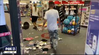 Nearly 50 arrested after stores looted, burned during night of violent protests in Tampa