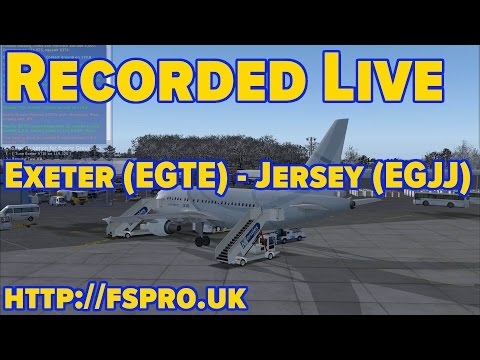 Project Airbus A318 Exeter (EGTE) to Jersey (EGJJ) - Recorded Live!