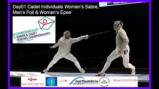 Day01 Commonwealth Junior Cadet Fencing Championships 2018 Piste Blue