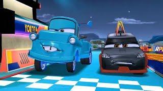 Blue Tow Mater VS Yokoza & Lightning Mcqueen Disney CARS Racing Game Play
