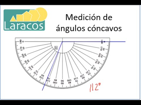 Medici n de ngulos c ncavos youtube for Transportador de angulos