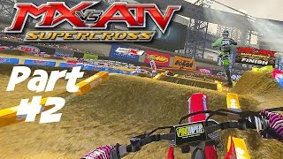 MX vs ATV Supercross! - Gameplay/Walkthrough - Part 42 - Aggressive Pass, I Like It!