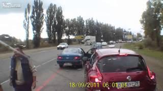 Big man vs small man road rage