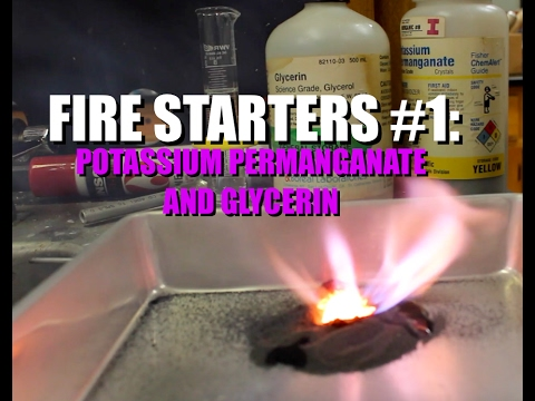 Fire Starters #1 - Potassium Permanganate And Glycerin