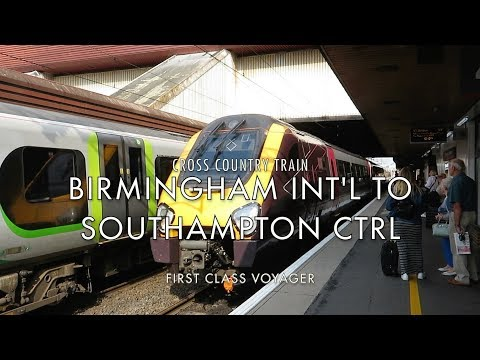 First Class Cross Country Voyager Train From Birmingham Int'l To Southampton Central