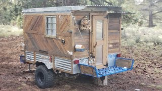 Handyman Builds Off Road Tiny Home Camper & Lives Off Grid for 4 Years