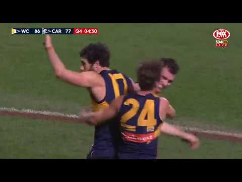Round 21 AFL - West Coast Eagles v Carlton Highlights