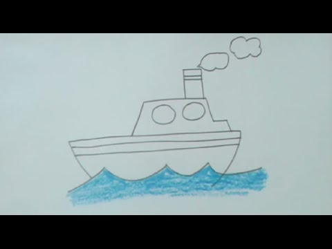 How To Draw Ship Step By Step Very Easily For Kids Beginners Youtube