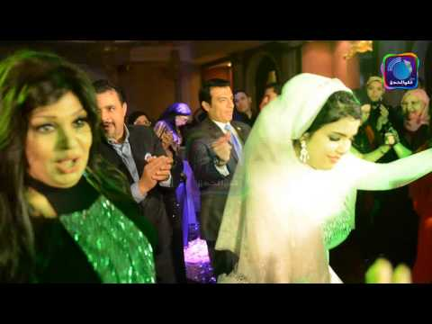 مها احمد ترقص مع زوجها فى فرح اخو روجينا - من قلب الحدث