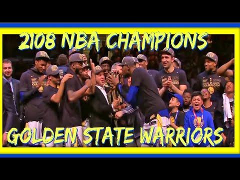 [FULL} Golden State Warriors 2018 NBA Finals trophy presentation