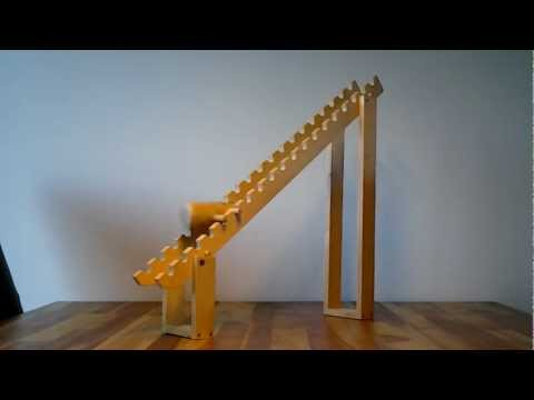 Wooden tumbling toy