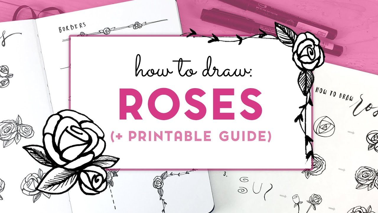 How to Draw Roses - Simple & Minimal (+ Printable PDF)