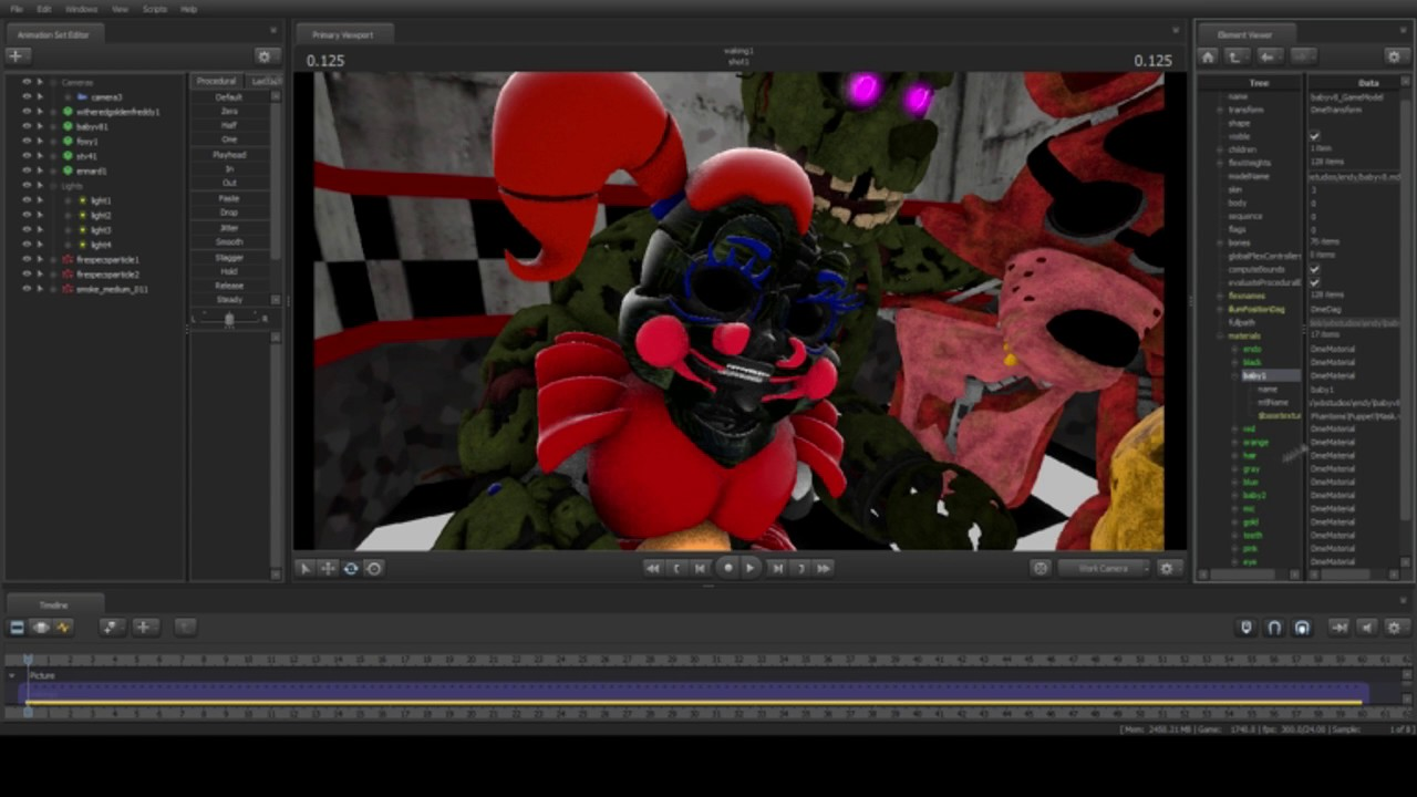sfm fnaf poster speed paint what u0026 39 s left of the afton