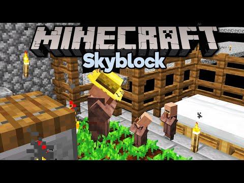 Easy Skyblock Villager Breeding! ▫ Minecraft 1.15 Skyblock (Tutorial Let's Play) [Part 9]