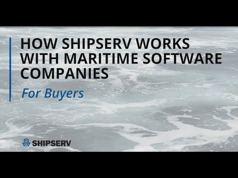 How ShipServ works with maritime software companies