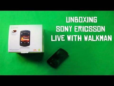 Sony Ericsson Live with Walkman Unboxing