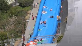 Giant Slip n Slide Potrero Hill SF c 2014 Josh Litwin