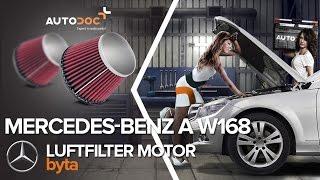 Byta Luftfilter on MERCEDES-BENZ A-CLASS: verkstadshandbok