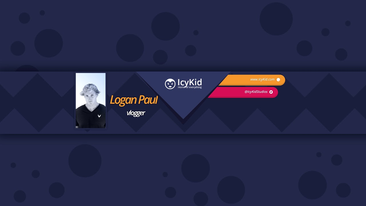 youtube cover psd free youtube cover template - professional loganpaul cv - psd - free  download