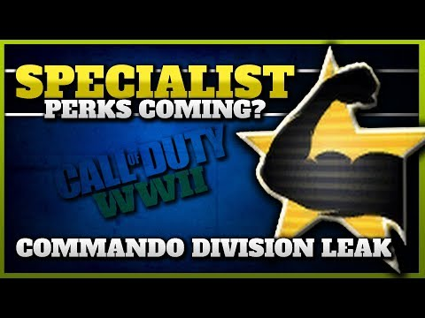 Specialist Perks Returning in CoD WW2?! (New Division Leak + 13 New Weapons)