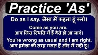 Use of 'As' in Hindi - english grammar