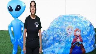 Balon Uzaylı Oyunu Komik خافت من الكائن الفضائي  دخلت السجن