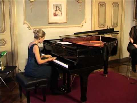 """Eliana Grasso Studio op. 25 n. 7 Chopin, lettura concerto """"Leopardi e Chopin"""" con Elena Zegna"""