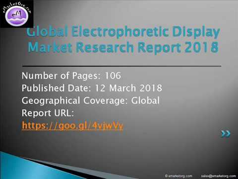 Electrophoretic Display Market Emerging Opportunities, Market Size, Share, Growth Drivers