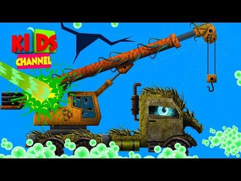Car Wash Crane   Halloween Kindergarten Nursery Rhymes   Videos For Children By Kids Channel