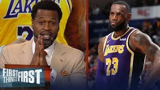 Will LeBron win a title with the Lakers? Stephen Jackson thinks so | NBA | FIRST THINGS FIRST