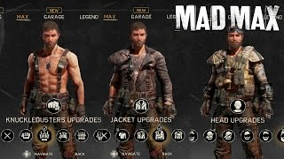 Mad Max - All Max's Outfits/Gears/Upgrades/Weapons (Max Fully Upgraded) SHOWCASE