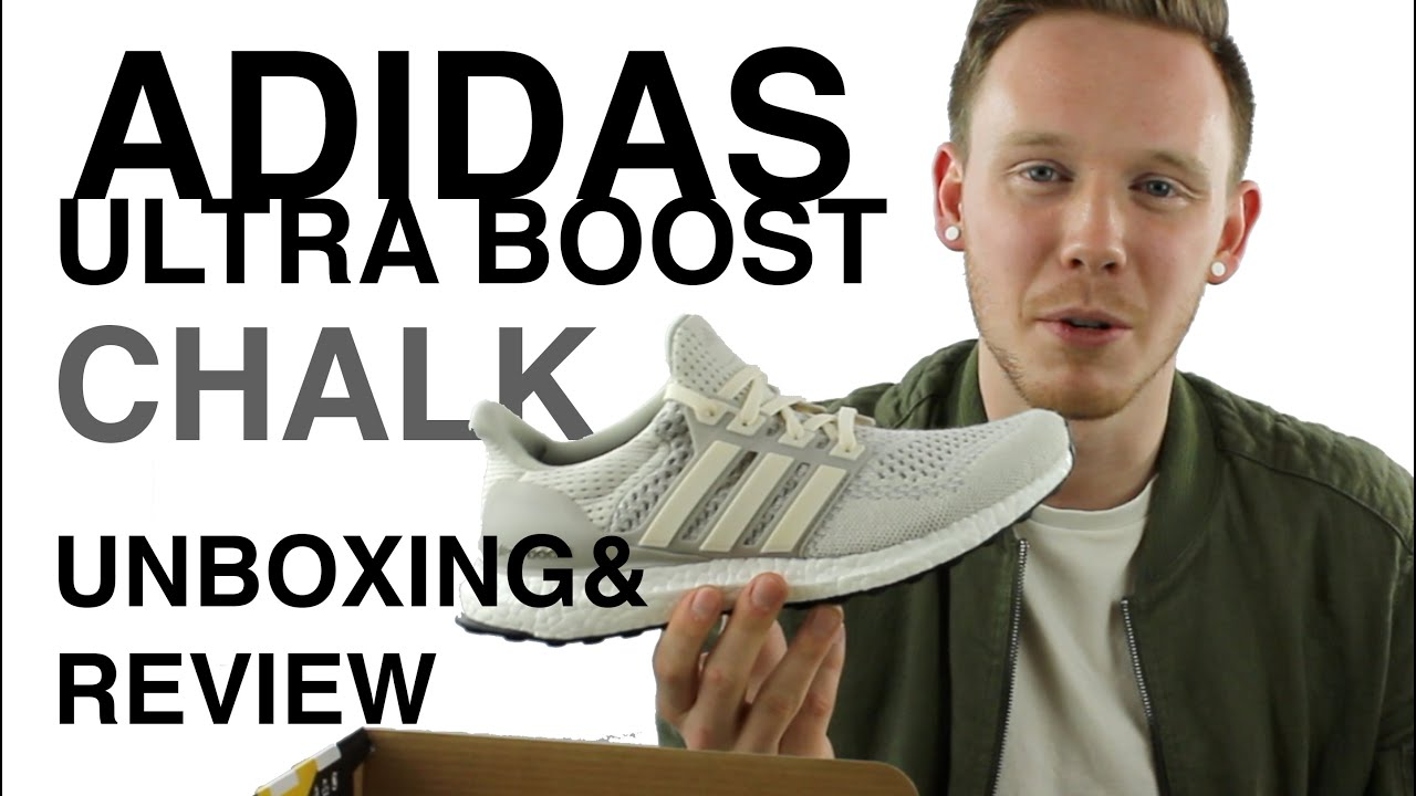 Adidas ultra Boost Ltd tiza Cream unboxing y Review en YouTube