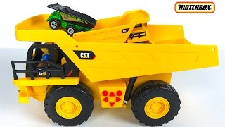 MIGHTY MACHINES COLLECTION DUMP TRUCKS: CATERPILLAR - CAT MATCHBOX ON A MISSION  CHUCK AND FRIENDS