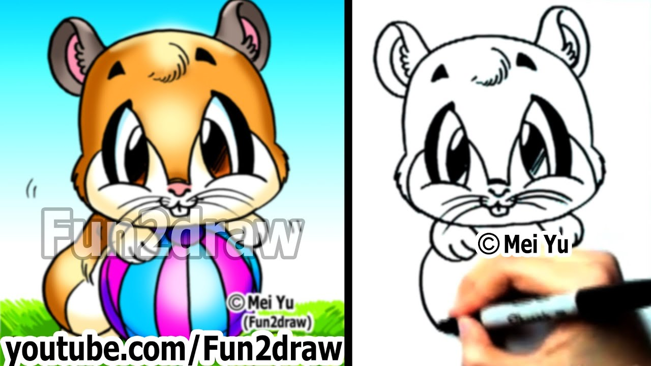 How to draw a cartoon hamster by mei yu fun2draw easy drawings how to draw a cartoon hamster by mei yu fun2draw easy drawings learn to draw youtube ccuart Images