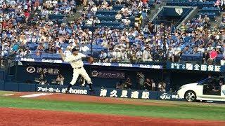 齊藤明雄 始球式 at 横浜スタジアム (Aug 05, 2018)