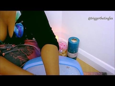 ASMR Foot Spa Roleplay (Pedicure & Massage) w/ Layla