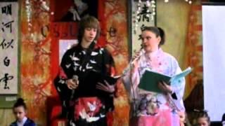 """Сказка """"Репка"""" на японском языке. """"Хинамацури"""" II часть (1 класс 2008) год"""
