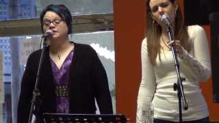 Gospel Song with old school Blues rhythm - I will Dwell Live at Coffee Shop.