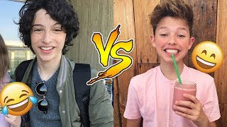 Finn Wolfhard VS Jacob Sartorius - Who Is Funnier? 😊😊😊 - CUTE AND FUNNY MOMENTS 2018 thumbnail