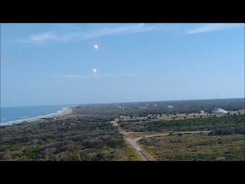 Spacex Falcon Heavy Booster landing - Sonic boom