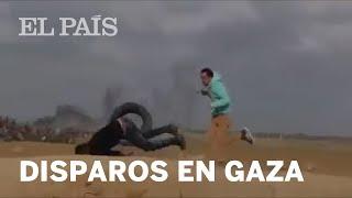 FRANJA DE GAZA: Un palestino es disparado por la espalda | Internacional