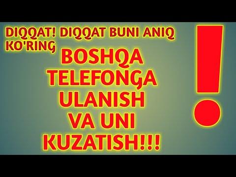 BOSHQA TELEFONGA ULANISH VA UNI KUZATISH