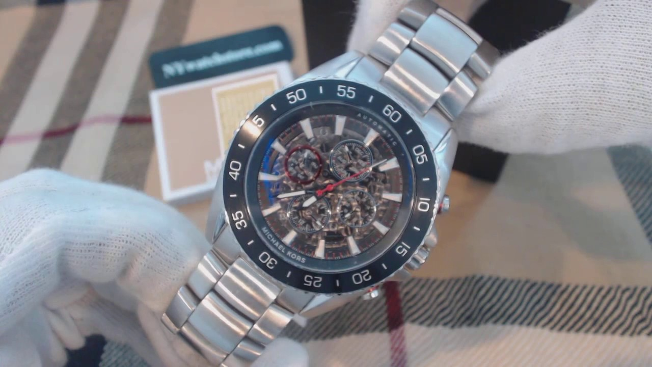 ee046a7363a5 Men s Michael Kors Jetmaster Automatic Chronograph Watch MK9011 - YouTube