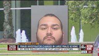 Fraud investigator charged in large fraud scheme