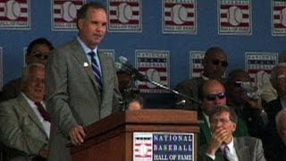 Sandberg is inducted into the Baseball Hall of Fame