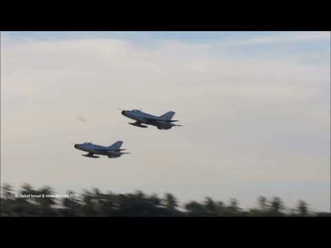 Sri Lankan Air Force F-7GS fighters performing an aerial display