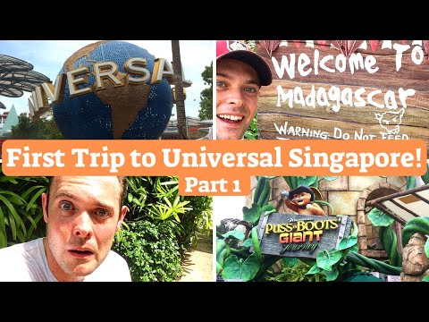 VLOG | 1st Time at Universal Singapore! | Part 1 | Madagascar, Far Far Away & Ancient Egypt!